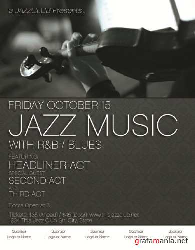 PSD Template - Jazz Club Poster