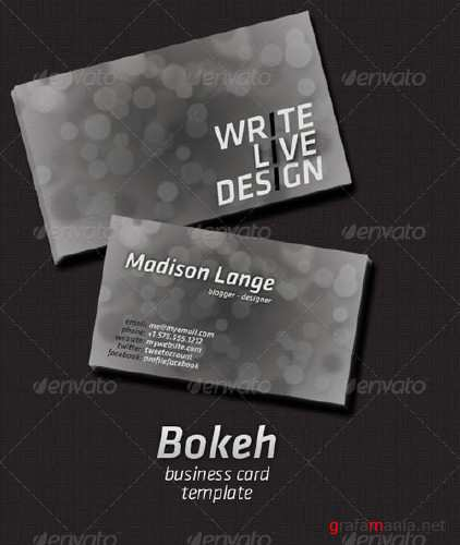 Bokeh Business Card - GraphicRiver