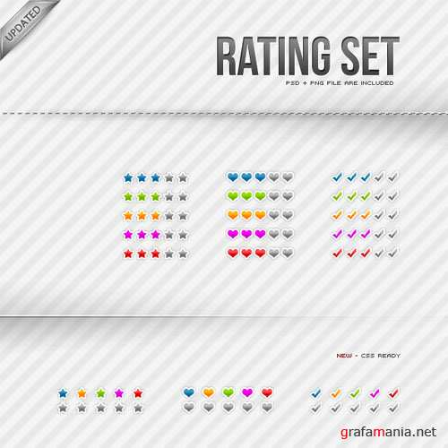 GraphicRiver - Rating / Karma sets