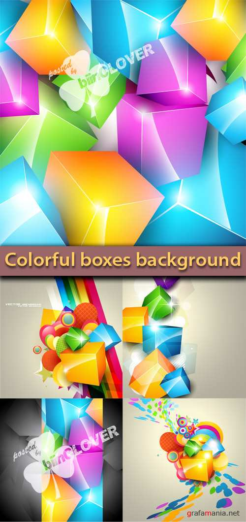 Colorful boxes background