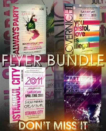 GraphicRiver - TYPOGRAPHY FLYER BUNDLE - 4 IN 1