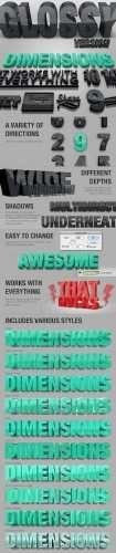GraphicRiver - Dimensions Glossy Version - 3D Generator Action
