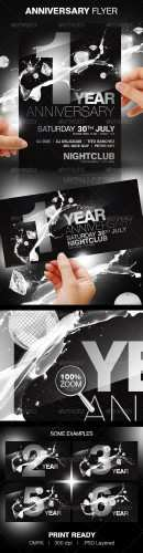 GraphicRiver - Anniversary Party Flyer