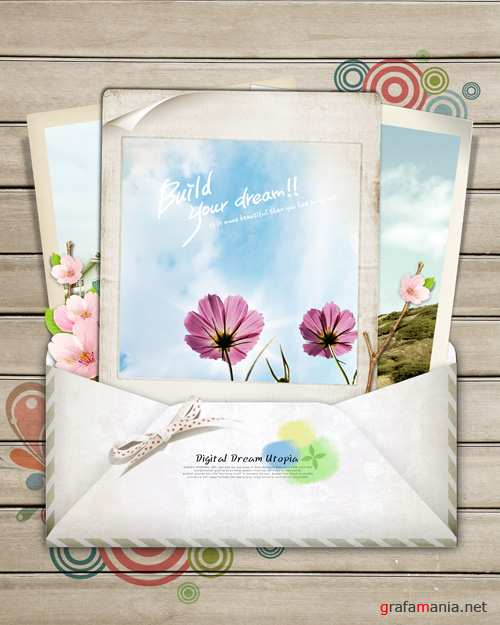 Sources - An envelope with cards