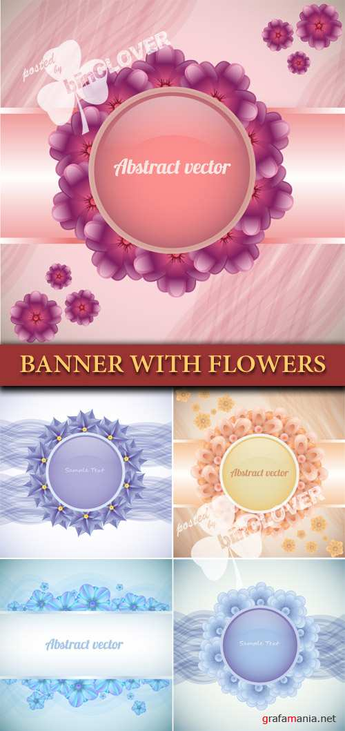 Banner with flowers