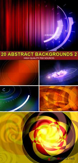 PSD Sources - 20 Abstract backgrounds 2