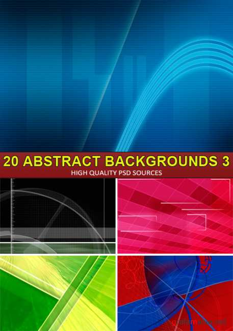PSD Sources - 20 Abstract backgrounds 3