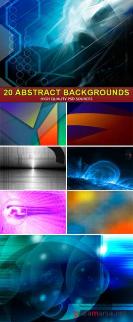 PSD Sources - 20 Abstract backgrounds