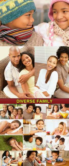 Stock Photo - Diverse Family