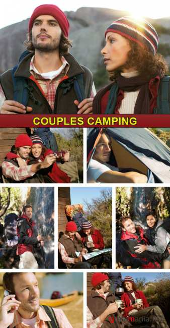 Stock Photo - Couples Camping