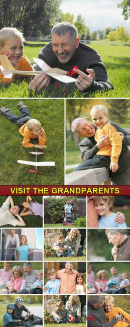 Stock Photo - Visit the Grandparents
