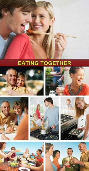 Stock Photo - Eating Together