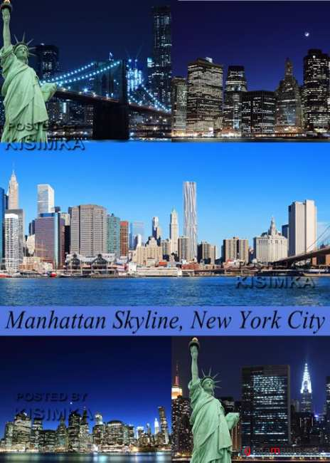 Stock Photo: Manhattan Sky line, New York City