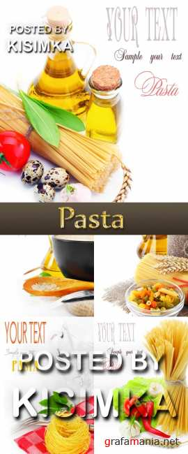 Stock Photo: Pasta cards