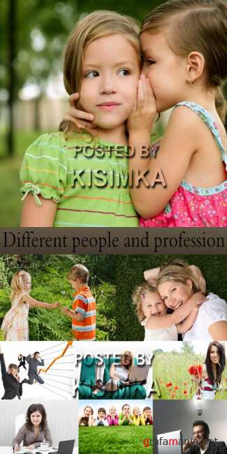Stock Photo: Different people and profession