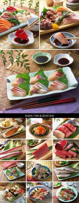 Stock Images - Sushi, Fish & Seafood