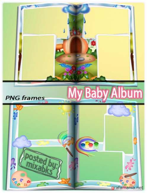 ������� ��������� | Baby Album Pages (PNG frames)