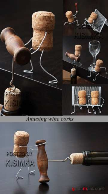 Stock Photo: Amusing wine corks