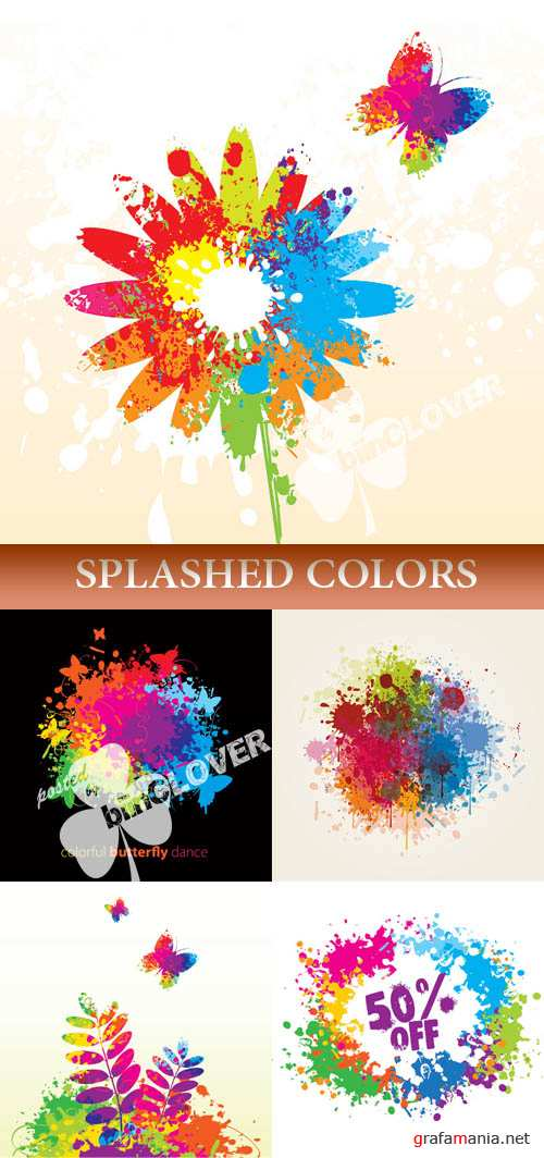 Splashed colors
