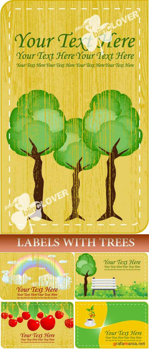 Labels with trees