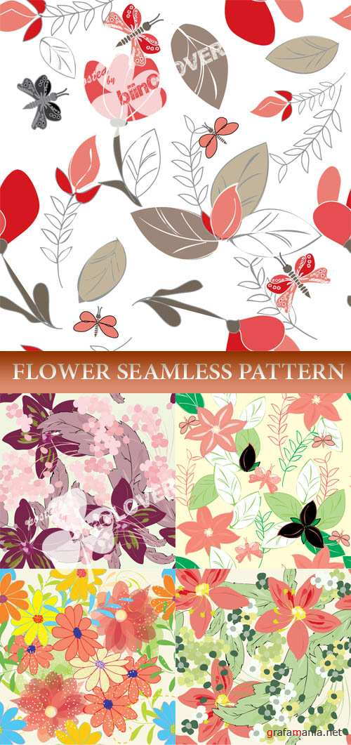 Flower seamless pattern