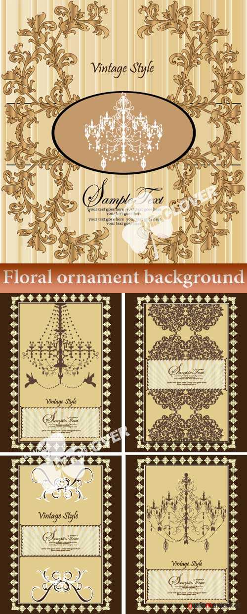 Floral ornament background