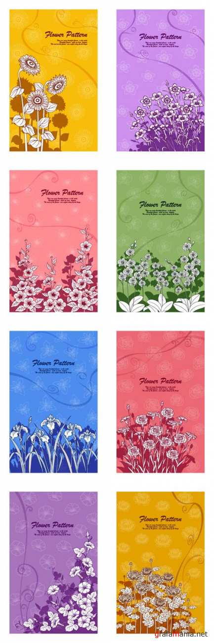 Vector Flower Patterns
