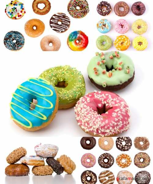 Colorful delicious donuts