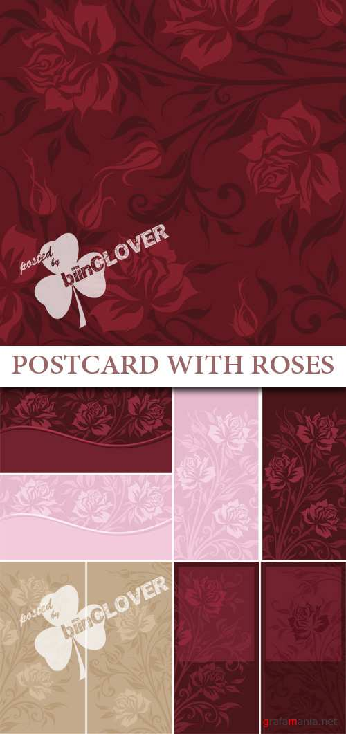 Postcard with roses