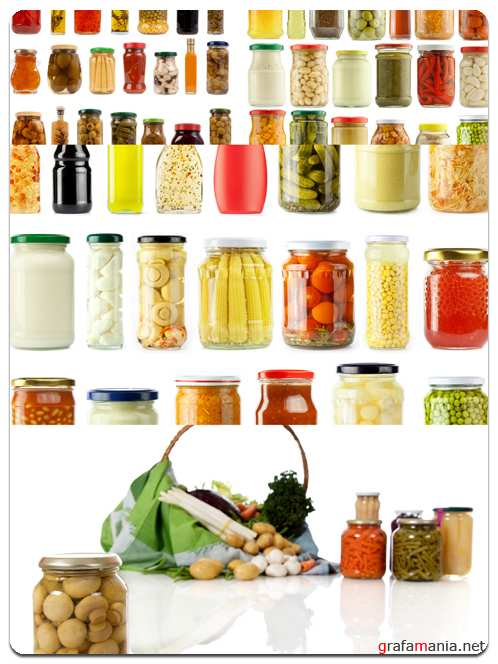 Canned Fruits and Vegetables - Stock Photo Images
