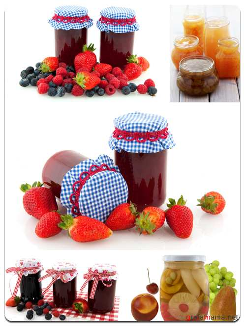 Jam and Canned Fruit - Stock Photo Images