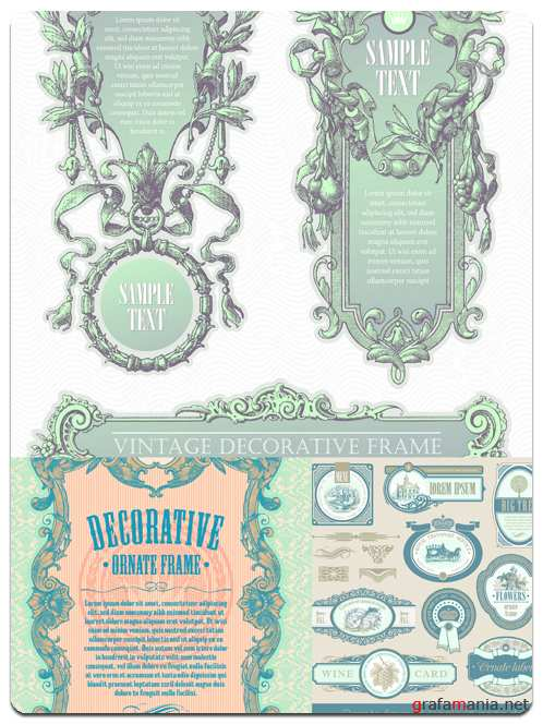 Vintage Ornamental Frames - Vector Stock