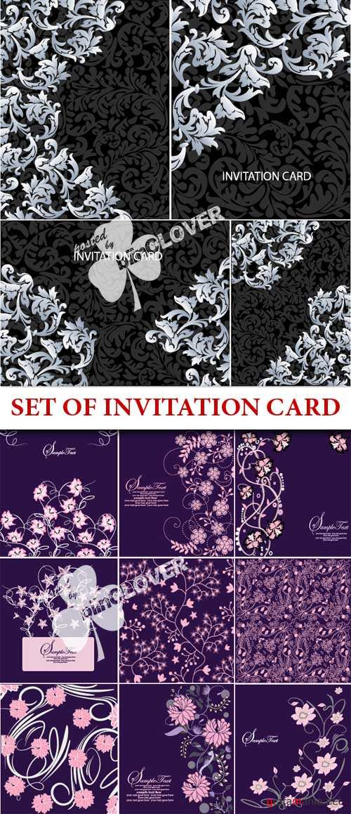 Set of invitation card
