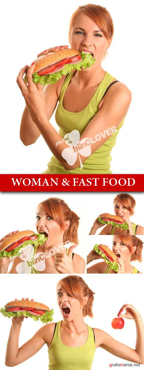 Woman & fast food