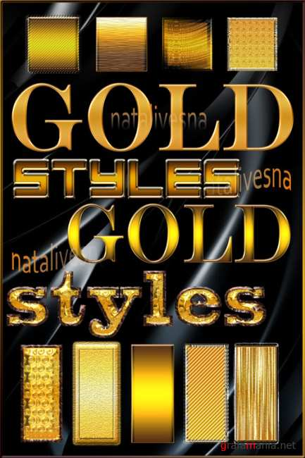 Photoshop Styles Gold