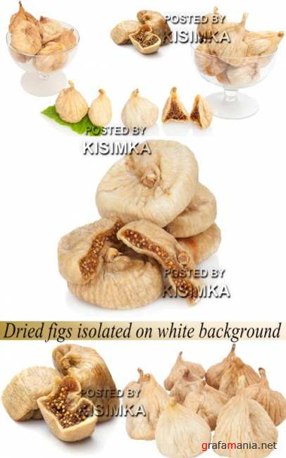 Stock Photo: Dried figs isolated on white background