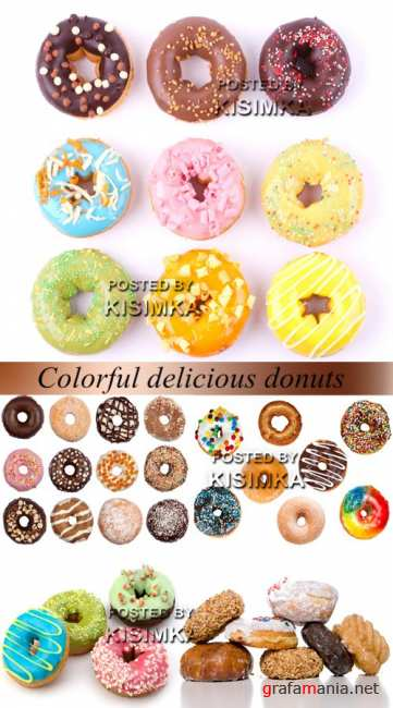 Stock Photo: Colorful delicious donuts