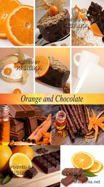 Stock Photo: Orange and Chocolate