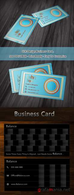 Gfx and Balance designers business cards
