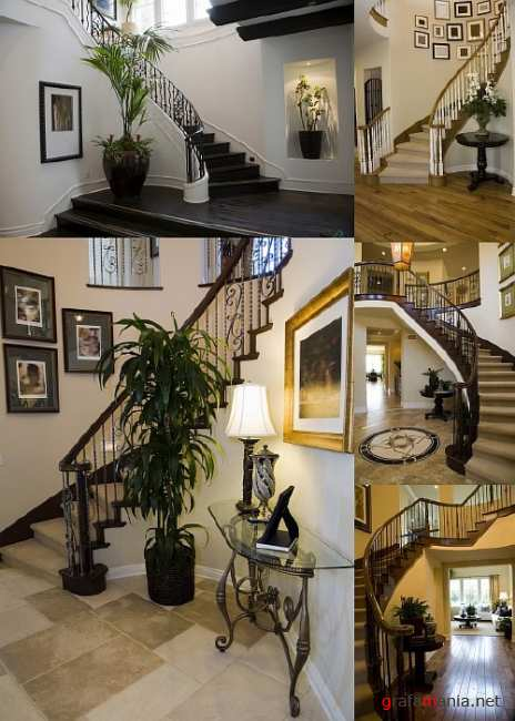Decor with Winding Staircase