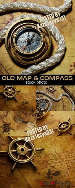 Old map & compass 5
