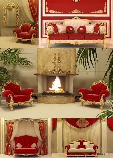 Royal Furniture in a Luxurious Interior
