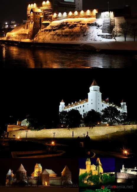 Night Views of Famous Castles
