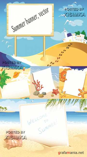 Stock: Summer banner, vector