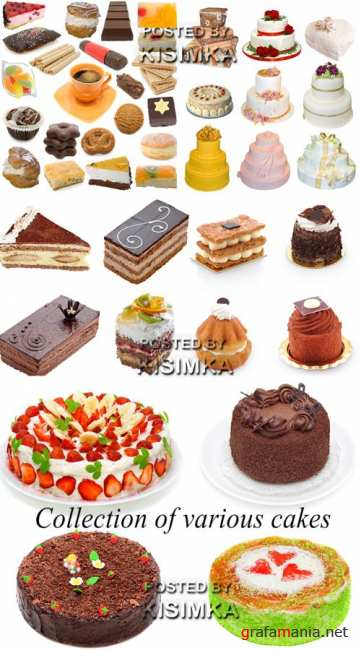 Stock Photo: Collection of various cakes