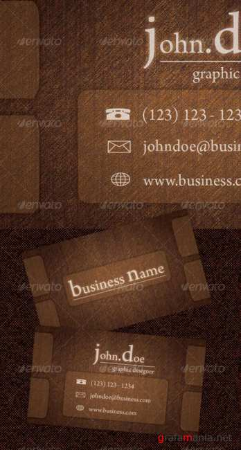 Wood Business Card GraphicRiver