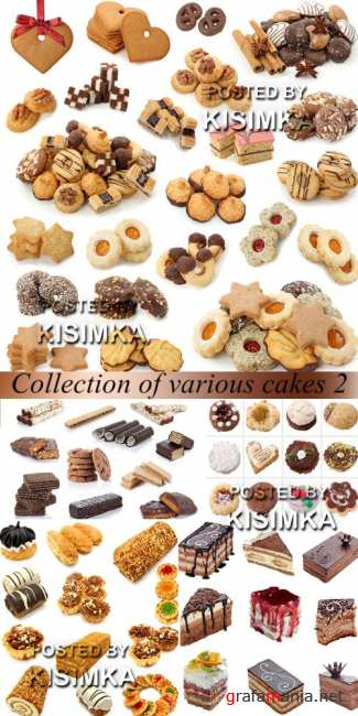 Stock Photo: Collection of various cakes 2