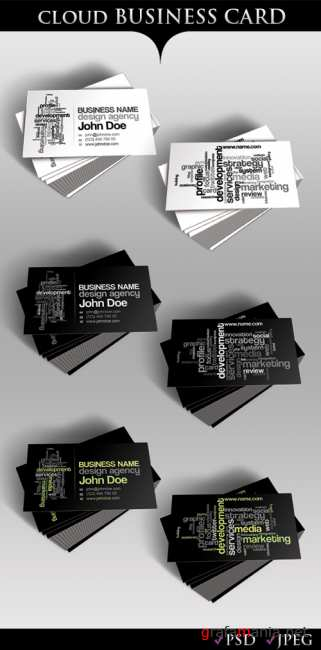 Cloud Business Card-GraphicRiver