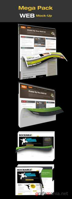 Mega pack web mock up