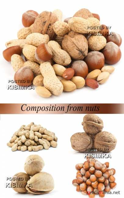 Stock Photo: Composition from nuts